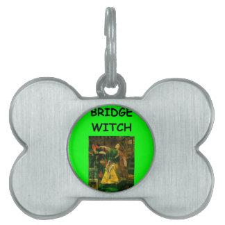 puente duplicado placa de nombre de mascota