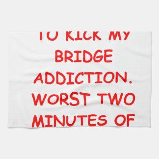 puente duplicado toalla de mano