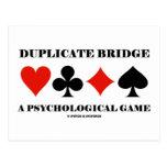 Puente duplicado un juego psicológico postal