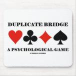Puente duplicado un juego psicológico tapetes de raton