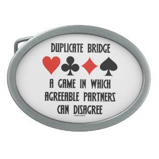Puente duplicado un juego que socios conformes hebillas de cinturon ovales
