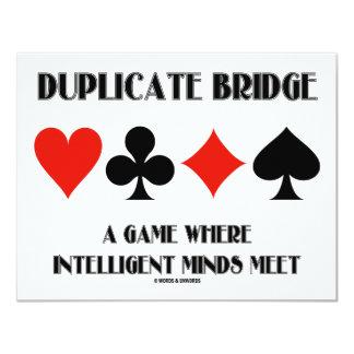 """Puente duplicado una reunión inteligente de las invitación 4.25"""" x 5.5"""""""