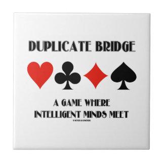 Puente duplicado una reunión inteligente de las me azulejo cuadrado pequeño