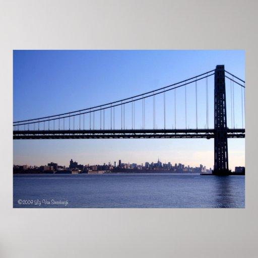 Puente e impresión del horizonte de NY Impresiones