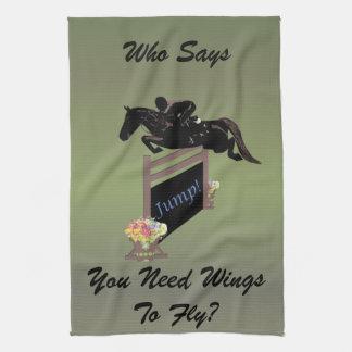 Puente ecuestre del caballo de la diversión toallas