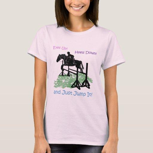 Puente ecuestre lindo del caballo playera
