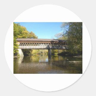 Puente el condado de Ashtabula Ohio del Rd del est Pegatinas