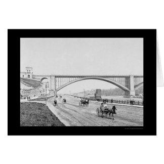 Puente el río Harlem 1905 de Washington del Tarjeta De Felicitación