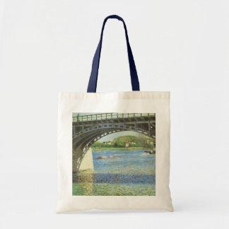 Puente en Argenteuil y el Sena por Caillebotte Bolsa Tela Barata