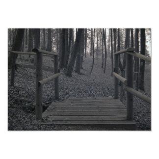 """Puente en bosque/la fotografía infrarroja invitación 5"""" x 7"""""""