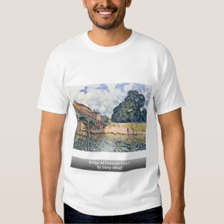 Puente en el Hampton Court por Sisley Alfred Playeras