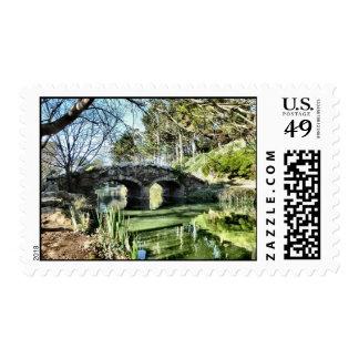 Puente en el lago stow sello postal