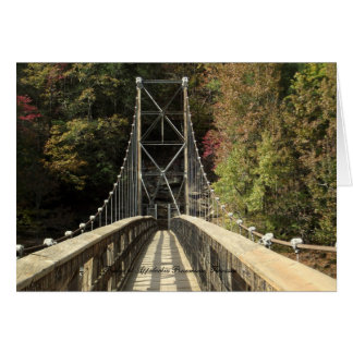 Puente en la central eléctrica del Appalachia Tarjeta Pequeña