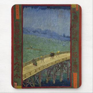 Puente en la lluvia Mousepad