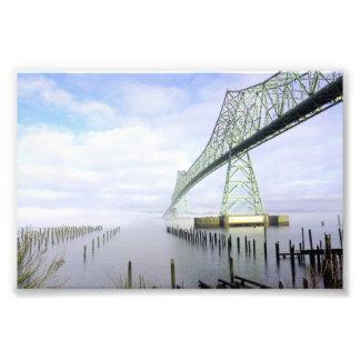 Puente en la niebla # 1 impresion fotografica