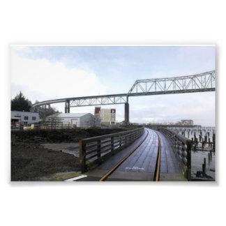 Puente en la niebla # 3 impresiones fotograficas