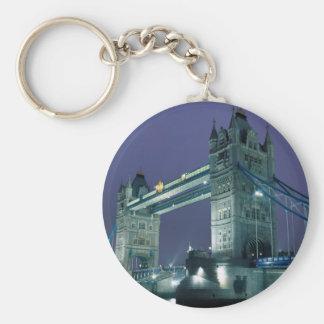 Puente en la noche Londres Inglaterra de la torr Llaveros Personalizados