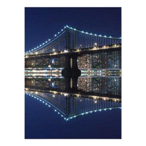 Puente en la noche, New York City de Manhattan Anuncio Personalizado