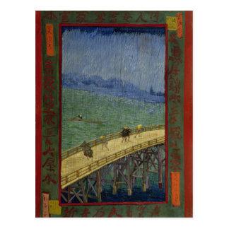 Puente en la postal de la lluvia