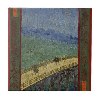 Puente en la teja de la lluvia