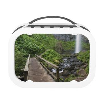 Puente en las caídas de Latourell garganta del rí