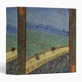 """Puente en lluvia después de Hiroshige de Vincent v Carpeta 1 1/2"""""""