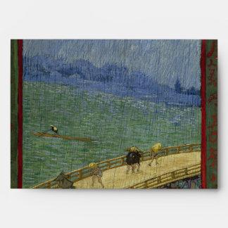 Puente en lluvia después de Hiroshige de Vincent v Sobres