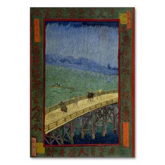 Puente en lluvia después de Hiroshige de Vincent v