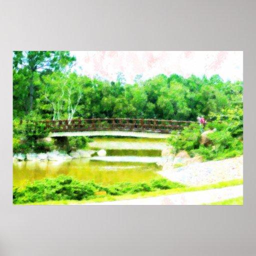 Puente en Morikami Posters