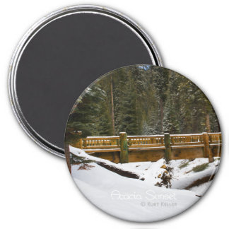 Puente en Wuksachi Imán Redondo 7 Cm