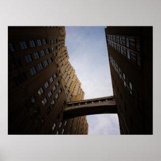 Puente encontrado de la torre de la vida, New York Posters
