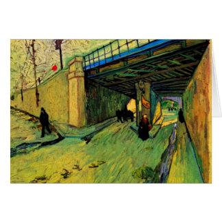 Puente ferroviario de Van Gogh, avenida Tarjeta De Felicitación