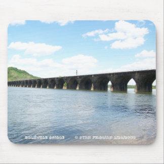 Puente ferroviario del arco de la albañilería de p alfombrilla de ratones