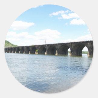 Puente ferroviario del arco de la albañilería de etiqueta redonda