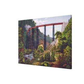 Puente ferroviario en Metlac, del 'álbum del Mexic Lona Envuelta Para Galerías