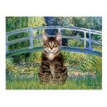 Puente - gato de tigre del Tabby 30 Postal