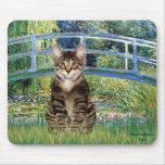 Puente - gato de tigre del Tabby 30 Alfombrilla De Ratón