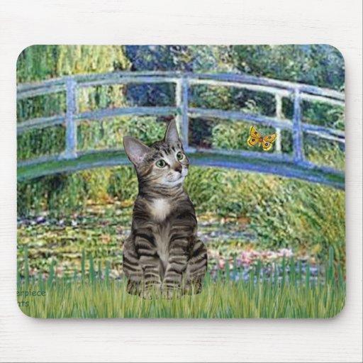 Puente - gato de tigre del Tabby 31 Tapete De Ratón