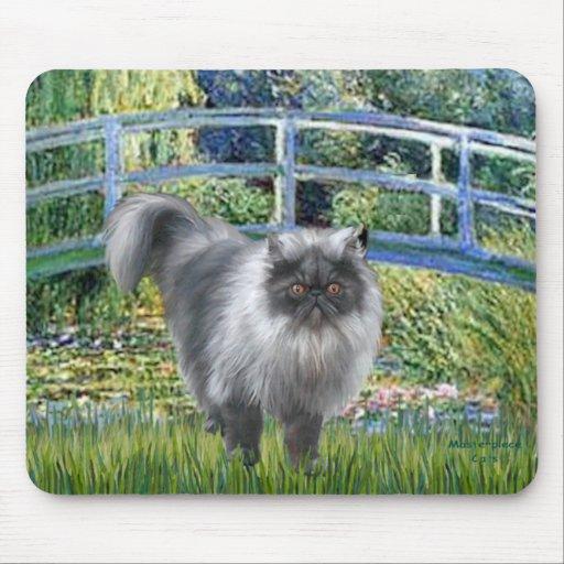 Puente - gato persa del humo azul mousepad