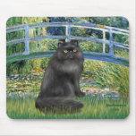 Puente - gato persa negro alfombrilla de raton