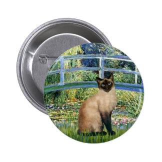 Puente - gato siamés del punto del sello pin redondo de 2 pulgadas