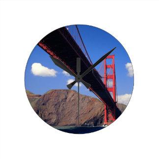 Puente Golden Gate 10 Reloj Redondo Mediano