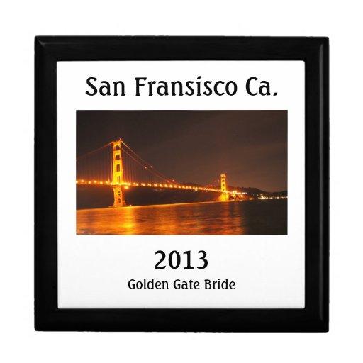 Puente Golden Gate 2013 Joyero Cuadrado Grande