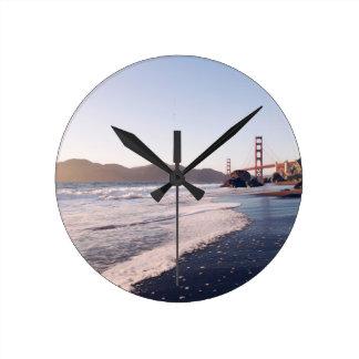 Puente Golden Gate 2 Reloj Redondo Mediano