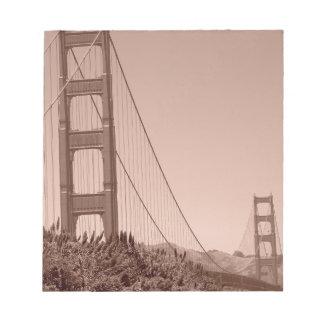 Puente Golden Gate 6 Libretas Para Notas