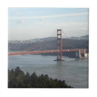 Puente Golden Gate Azulejo Cuadrado Pequeño