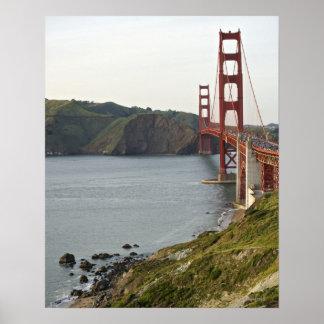 Puente Golden Gate con vista al condado de Marin Póster