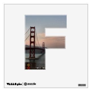 """Puente Golden Gate de la letra """"F"""" Vinilo"""
