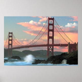 Puente Golden Gate de la playa del panadero Impresiones
