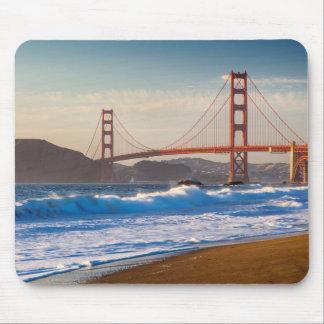Puente Golden Gate de la playa del panadero Alfombrillas De Raton